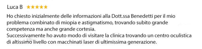 Recensione - Dott.ssa Benedetti